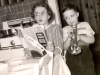 EC in his Oak Park, IL kitchen with his mother and trusty Tune-a-Day book, ca. 1960