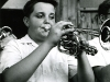Cornetist in the band at the National Music Camp, Interlochen, MI, ca. 1967