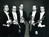 New York Trumpet Ensemble, 1983, L-R EC, Mark Gould, Alex Holton, Dave Langlitz, Neil Balm