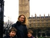 Chris, Jackie, and Danny in London, 1998